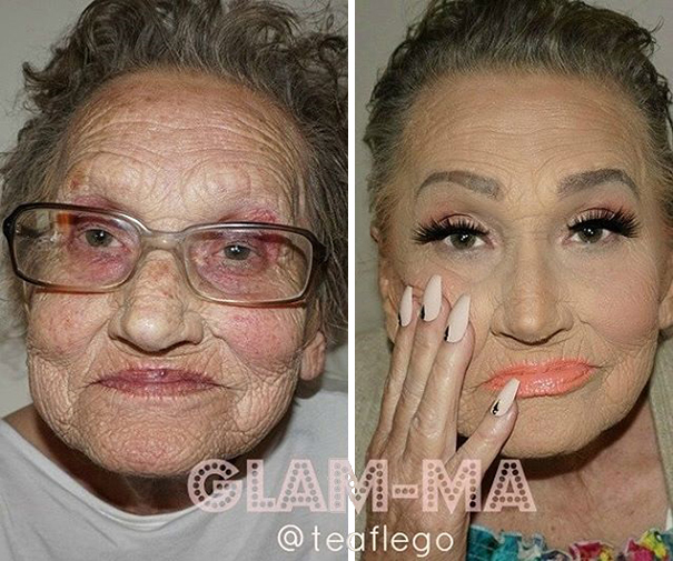 grandmother-makeup-tea