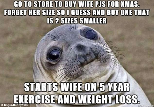 Size wife caption consider